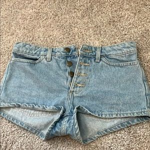 American Apparel button fly shorts size 26
